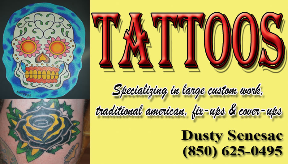 tattoos panama city beach florida tattoos by dusty
